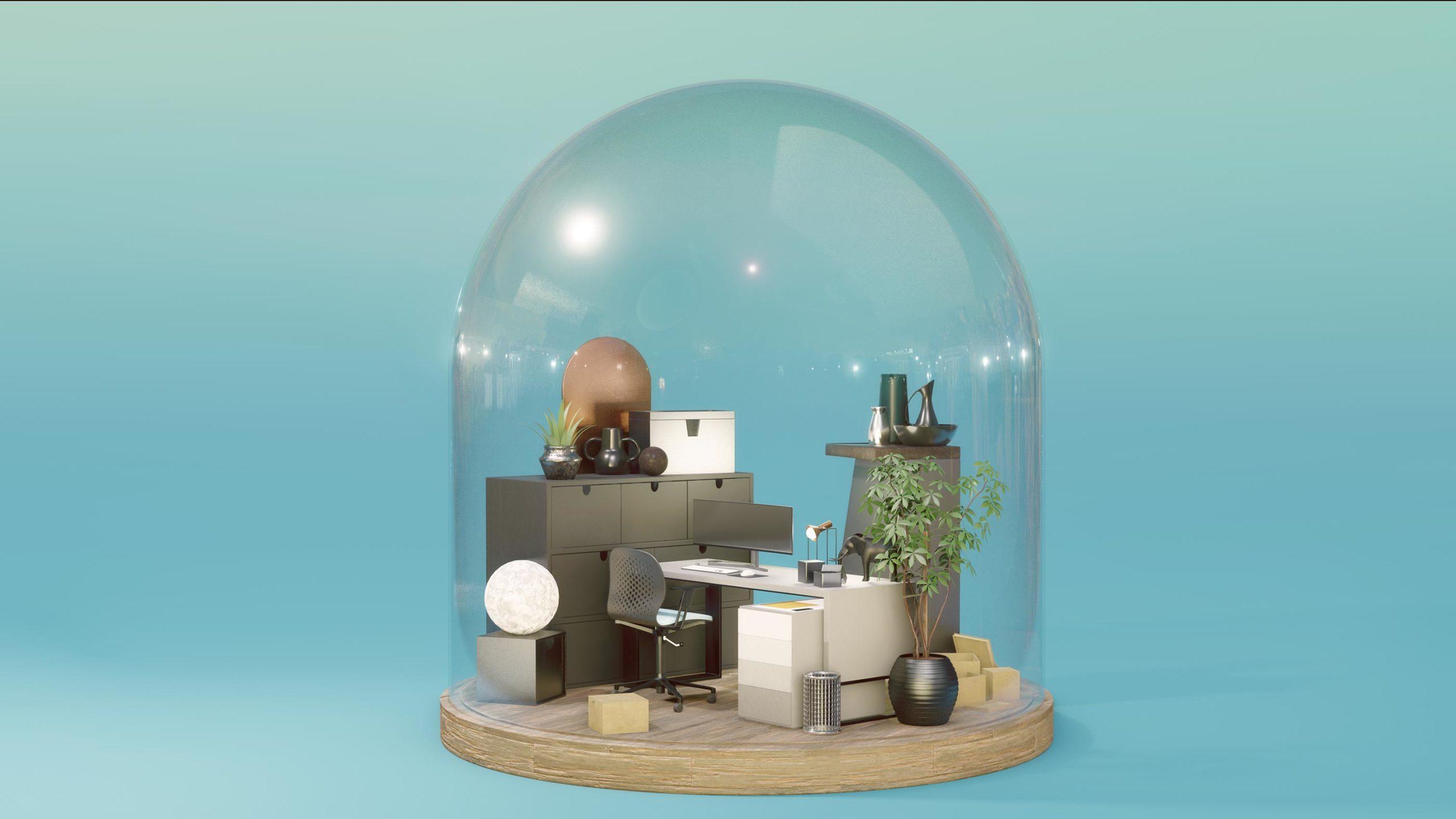 travail bureaux 3d miniature laurent meriaux graphiste clermont ferrand